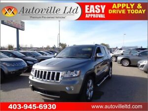 2012 Jeep Grand Cherokee Overland 4WD Leather Nav P.Roof B.Cam