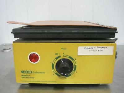 Bio Rad Laboratories Model 224 Gel Slab Dryer 30  Hg Pressure Limits