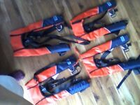 4 inflatable life jackets