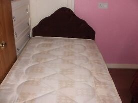 New single divan bed including mattress and headboard.