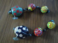 Vintage TPS Japan Midget Lady-Bug Wind-up Tin Toy