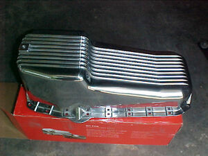 SBC Polished Aluminum Finned Oil Pan Chevy 55/79-80/85-86 UP London Ontario image 2