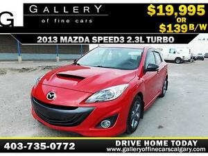 2013 Mazda MazdaSpeed3 Turbo $139 bi-weekly APPLY NOW DRIVE NOW