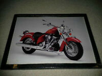 beautiful Indian motorcycle pic -mounted, ready to display