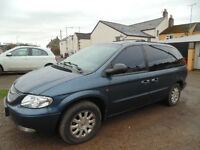 Chrysler Voyager 2.5 crd LX. Tow bar. Long MOT