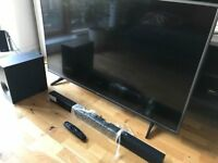LG Smart 4k Ultra HD 55' LED TV + Samsung bluetooth soundbar + smart remote