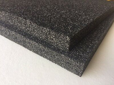2 Pack 1 X 18 X 18 Black Polyethylene Foam 1.7pcf Free Shipping