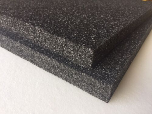 "2 pack 1"" x 18"" x 18"" Black Polyethylene foam 1.7pcf *FREE SHIPPING"
