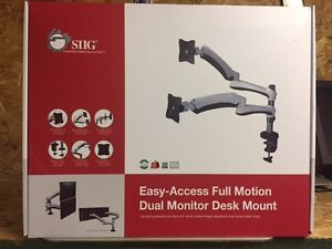 SIIG Easy-Access Full Motion Dual Monitor Desk Mount