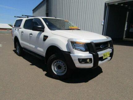 2013 Ford Ranger PX XL UTE DOUB 4DR SA 6SP 1114KG 3.2DT White Utility Tamworth Tamworth City Preview
