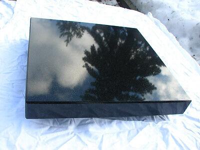 Nero Assoluto 4cm stark Entkopplungsplatte Gerätebasis Lautsprecher Granit Black