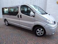 Renault Trafic LL29 9 Seater Minibus 2.0 dCi 115 LWB ....Rare 9 Seater Crew Van....Long Wheel Base