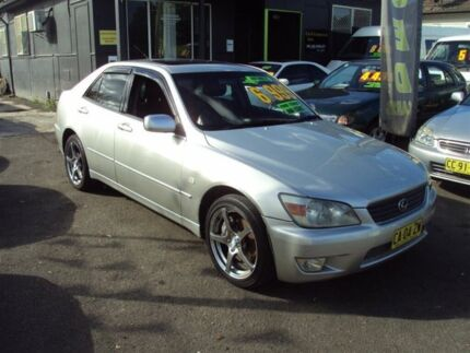 1999 Lexus IS200 GXE10R Sports Luxury Silver 4 Speed Automatic Sedan Punchbowl 2196 Canterbury Area Preview