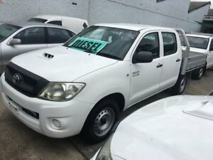 2010 Toyota Hilux KUN16R 09 Upgrade SR White 5 Speed Manual Dual Cab Pick-up Lidcombe Auburn Area Preview