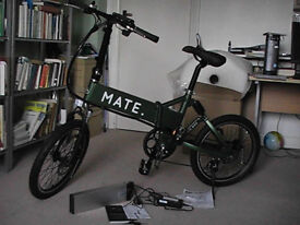 Brand new MATE electric bike: very sturdy portable bike with Li-ion rechargeable battery assistance.