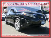 2009 Lexus RX350 GSU35R 07 Upgrade Sports Luxury Black 5 Speed Sequential Auto Wagon Homebush Strathfield Area Preview