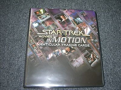 Star Trek Movies In Motion Trading Cards Album / Binder with P3 & A42 Auto