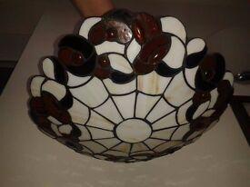 Tiffany pendant up-lighter lampshade