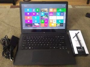 Sony Vaio Flip laptop and touch pen