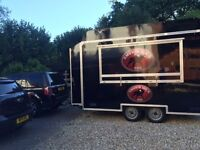12 ft Catering trailer made by SMS trailers, twin axle.