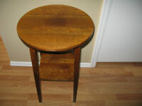 Vintage Oak Accent Table