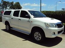2012 Toyota Hilux KUN26R MY12 SR Double Cab Glacier White 5 Speed Manual Utility Acacia Ridge Brisbane South West Preview