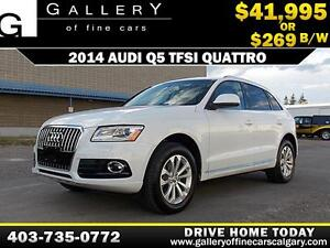 2014 Audi Q5 TFSI QUATTRO AWD $269 bi-weekly APPLY NOW DRIVE NOW