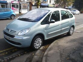 Citroen XSARA PICASSO 1.6 HDi Exclusive 5dr, 2005 model, Full MOT, Cheap runabout