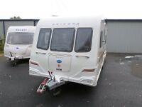 bailey unicorn valencia 4 berth fixed bed caravan
