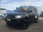 2015 Mitsubishi Triton MN MY15 GLX Double Cab Black 5 Speed Manual Utility Hillvue Tamworth City Preview