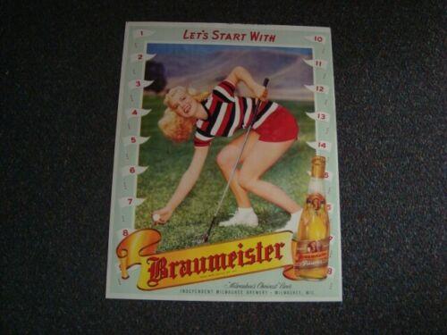 Circa 1950s Braumeister Lady Golfer Display, Milwaukee, Wisconsin