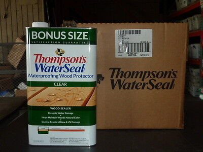- Thompson's Water Seal 1.2 Gallon Clear Wood Sealer 021802 Case of 4