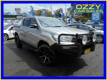 2016 Toyota Hilux GUN126R SR (4x4) Silver 6 Speed Automatic Dual Cab Utility Penrith Penrith Area Preview