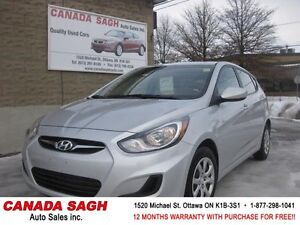 2014 HYUNDAI ACCENT HB ,LOADED AUTO , 12M.WRTY+SAFETY $8990