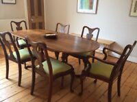 Beautifully restored dining table and 6 chairs