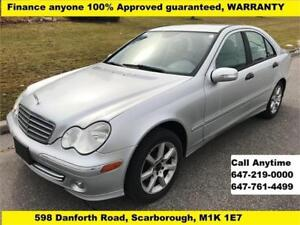 2006 Mercedes-Benz C-Class C 230 FINANCE GUARANTEED 164,850 km