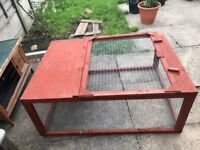Rabbit/Guinea pig wooden hutch and Run