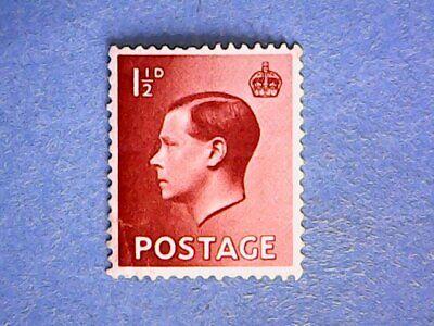 GB. KEVIII 1936 1½d Red-Brown. SG459. Wmk W125. P15 x 14. MH.
