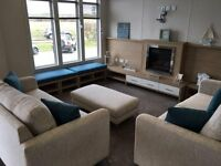 MODERN SPACIOUS 3 BEDROOM LUXURY LODGE WITH DECKING AND SITE FEES