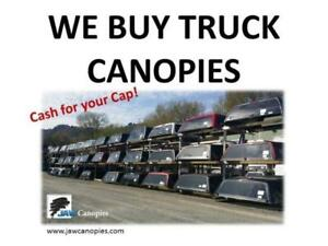 We buy USED TRUCK CANOPIES