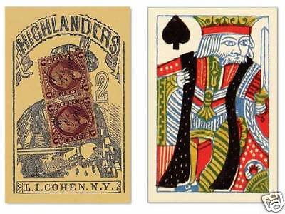 55 Playing Cards Repro Antique Poker Deck 1864 Civil War Era Old Time Photo Prop 1864 Poker Card Deck
