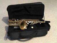 Soprano saxophone Hanson raw brass to F#