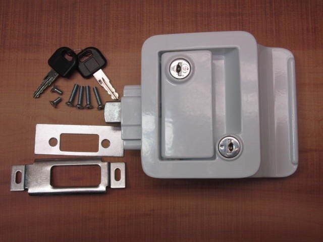 White Rv Entry Door Lock Handle Knob W Deadbolt Camper Travel