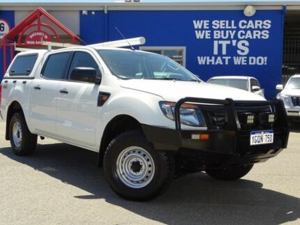 2013 Ford Ranger PX XL Double Cab White 6 Speed Sports Automatic Utility Welshpool Canning Area Preview