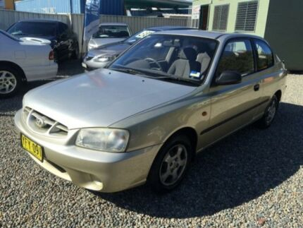 2002 Hyundai Accent LC GL Gold 4 Speed Automatic Hatchback Jewells Lake Macquarie Area Preview