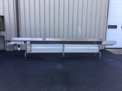 Modular Stainless Steel Packing Table With 4.5 Wide X 210 Long Center Conveyor