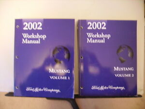2002 Ford Mustang Service Repair Manual Set,Vol 1 and 2