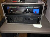 PA speaker system , power amps and crossover for sale