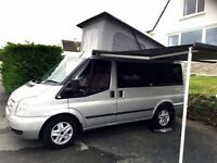 Ford Transit Campervan, New engine fitted by Ford 2000 miles ago. Sleeps 4, lovely condition,.