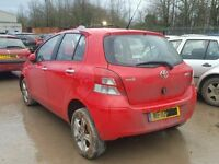 TOYOTA YARIS 2008 RED BREAKING FOR SPARES TEL 07814971951 HAVE FEW IN STOCK